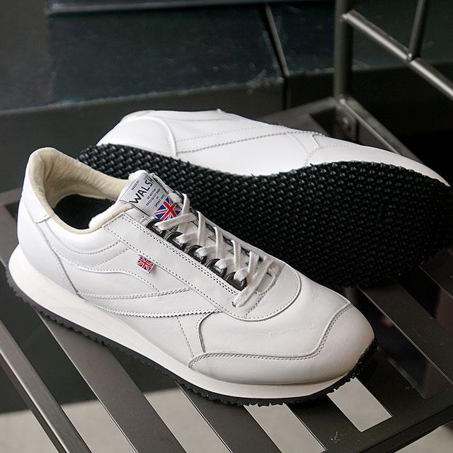 ウォルシュ WALSH スニーカー ボヤージャーレザー VOYAGER LEATHER (VOY50007 SS20) メンズ・レディース 英国製 WHITE ホワイト系