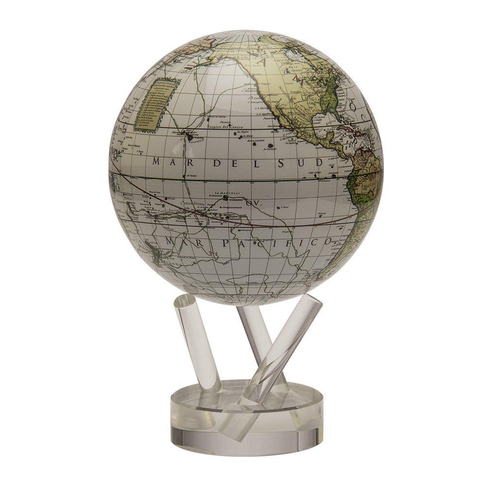 ムーバグローブ 地球儀 4.5インチ Cassini Terrestrial in White インテリア 置物 MOVA Globe MG45WCT
