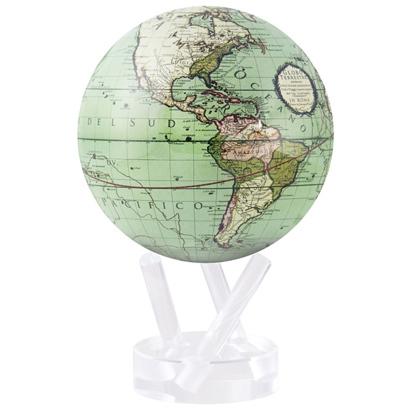 ★ムーバグローブ 地球儀 4.5インチ Cassini Terrestrial in Green インテリア 置物 MOVA Globe★MG45GCT