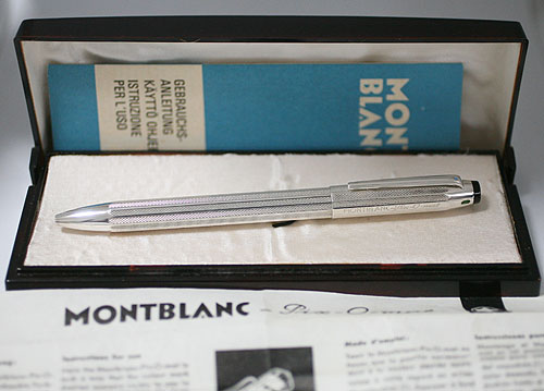 ★貴重!1960年代MONTBLANC /モンブラン No.103 Pix-O-mat4色ボールペン!銀無垢!元箱付き★