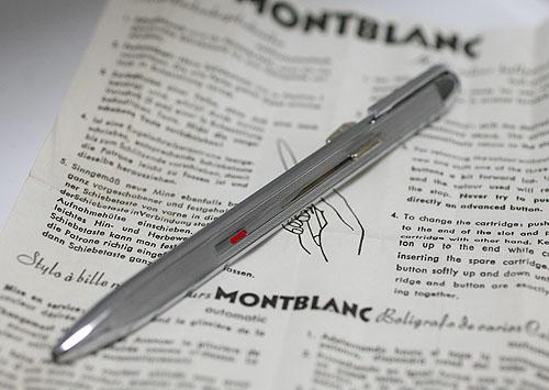 ★貴重!1960年代 MONTBLANC /モンブラン No.55 スライド式 3色ボールペン★