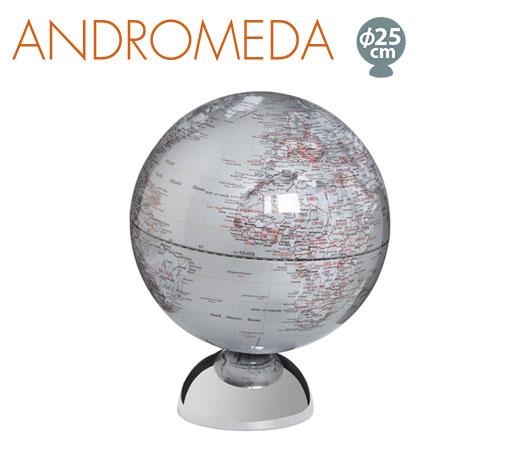 送料無料!☆地球儀(ドイツ製)ANDROMEDA グローブ マグネットスタンド 25cm☆地球儀は強力な磁石でベースに固定★エンフォルム(emform)★SE0827
