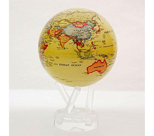 ★MOVA Globe ムーバグローブ11cm★半永久的にゆっくり 回り続ける不思議な地球儀☆Antiqued Beige/ベージュ☆MG45ATE
