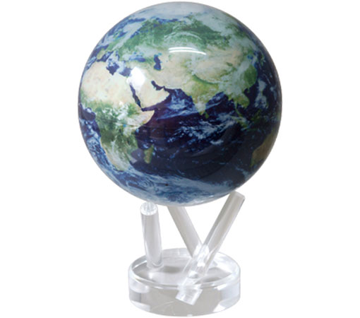 ★MOVA Globe ムーバグローブ15cm★半永久的にゆっくり 回り続ける不思議な地球儀☆Satellite w/cloud/サテライトビュー☆MG6STEC