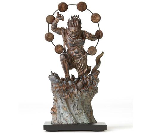 送料無料 TanaCOCORO[掌] 雷神 20センチサイズに凝縮された本物志向のクオリティ 飾れる仏像〈イSム〉(いすむ)(MORITA) tc3506