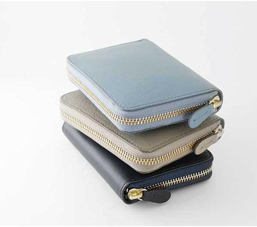 スリップオン AZ ラウンドCPウォレット 全8色 機能的でスマートなシルエットのコンパクト財布 IAZ-9801
