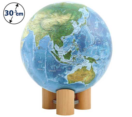 ☆渡辺教具の地球儀☆ 球径30.5cmの海洋タイプで英文表記 ★WM ラ・メール(英文) No.3055