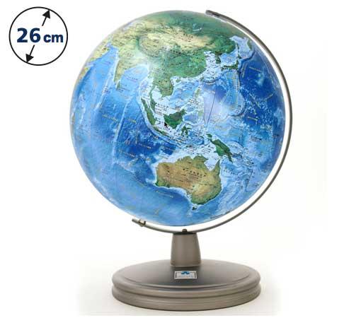 ☆渡辺教具の地球儀☆ 球径26cmの海洋底を詳しく画いた ★ラ・メール海洋タイプ地球儀 WM(スチール台)★