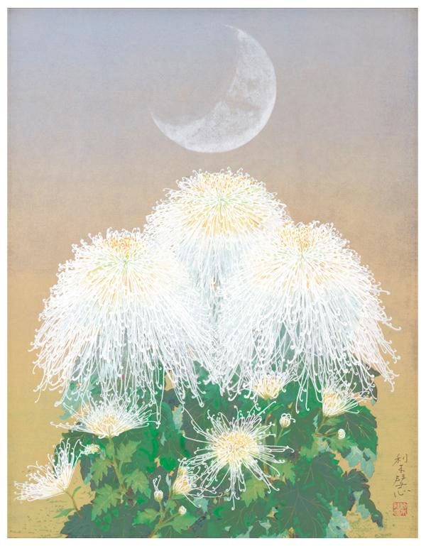 森田りえ子 京木版画『朝の月』【絵画】【通販・販売】