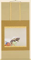 上村松園『牡丹雪』軸装・額装