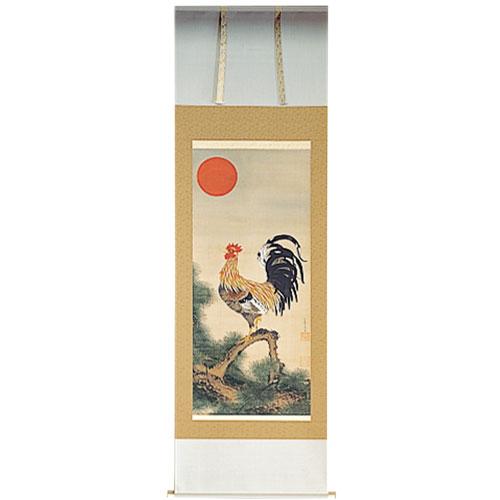 伊藤若冲 『旭日雄鶏図』軸装【掛軸】【通販・販売】