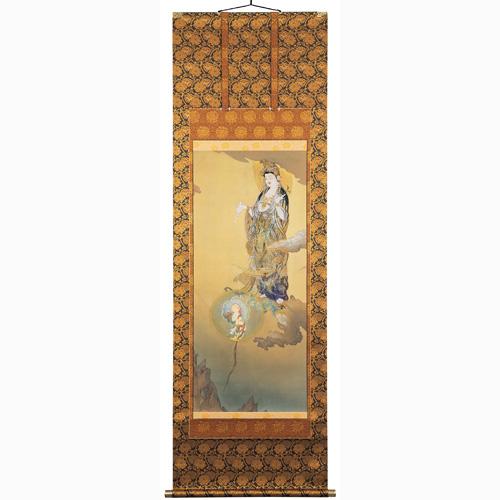 狩野芳崖『悲母観音』初の重要文化財指定作品【掛軸】【通販・販売】