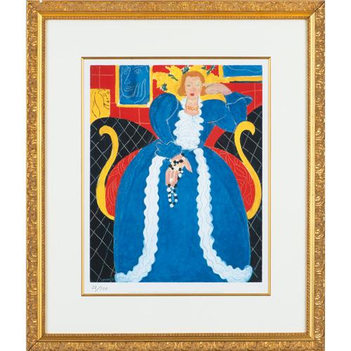 マティス マティス財団監修『青いドレスの女』原画収蔵:フィラデルフィア美術館 世界限定100部制作【絵画】【通販・販売】