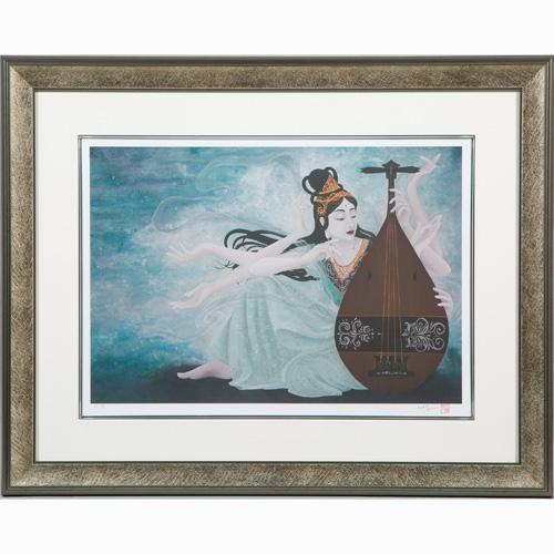 木綿花 ジグレー版画『水の元 ひかり』【水の光・女流画家・絵画】【通販・販売】
