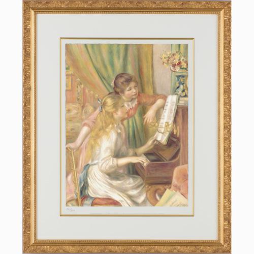 ルノワール『ピアノを弾く娘たち』【絵画・複製画】【通販・販売】