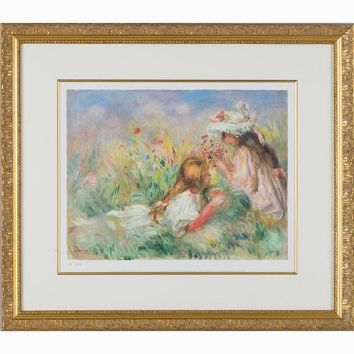 ルノワール『花を摘む少女たち』【絵画・複製画】【通販・販売】