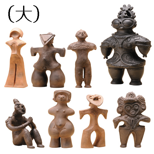 『土偶 縄文のマドンナ』8体セット(大)【国宝・重要文化財・土器・人形・女性・歴女】【通販・販売】