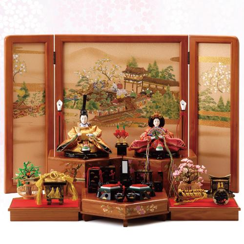 御貝桶納『雛人形・雅』(茶色)【雛人形・お雛様・雛飾り】【通販・販売】
