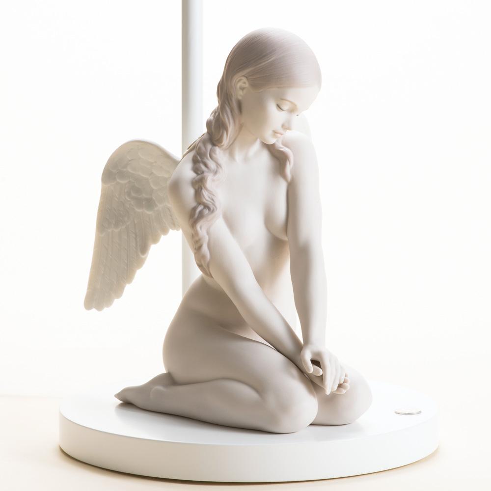リヤドロ ランプ『美しき天使』【リヤドロ・人形・少女・ランプ・間接照明・天使】【通販・販売】
