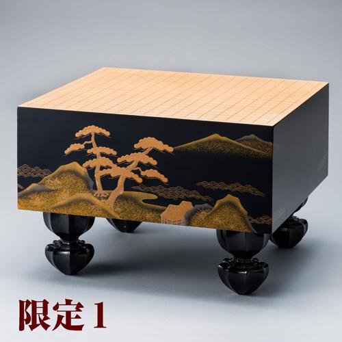 柾目桧葉『輪島塗螺鈿蒔絵碁盤』6寸【囲碁】【通販・販売】