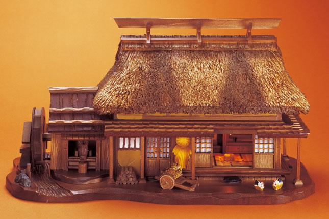 からくりオルゴール『かやぶき屋根の家』【通販・販売】