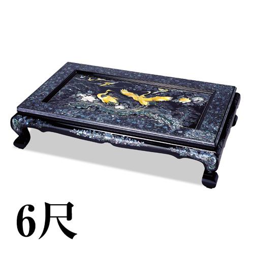 豪華螺鈿座卓『吉祥松鶴』6尺【螺鈿・テーブル】【通販・販売】