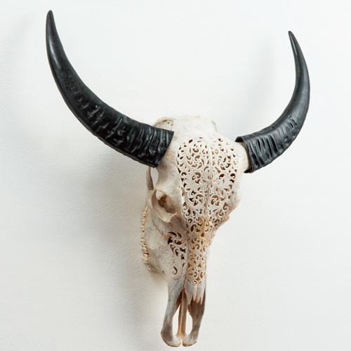 細密彫刻壁飾り『豊饒の水牛』【バリ島・雑貨】【通販・販売】