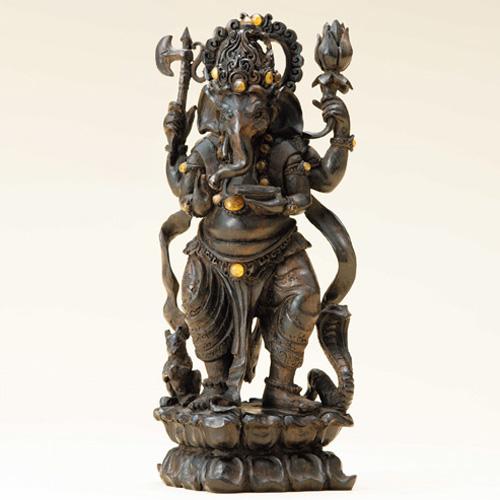 黒檀彫刻『繁栄のガネーシャ』【バリ島・雑貨】【通販・販売】