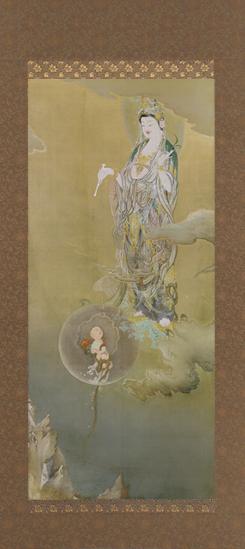 狩野芳崖『悲母観音』(東京藝大認定品)【日本画・仏画・掛軸】【通販・販売】