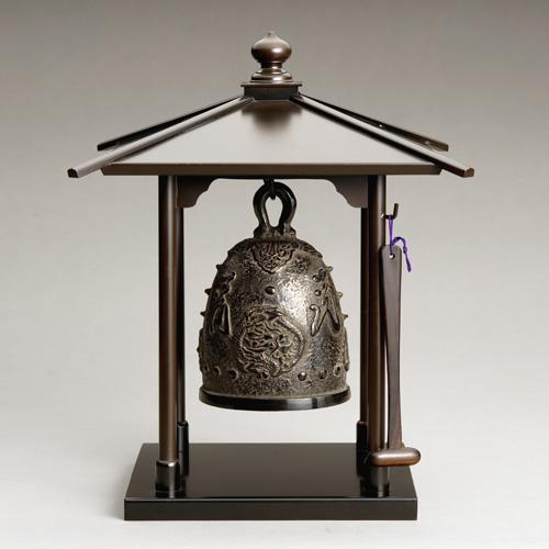 旭峰 銅製鐘楼付 半鐘『龍鳳』