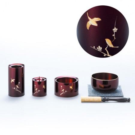 和田敬三『おりん・彫金三具足セット』【お彼岸・お盆】【通販・販売】