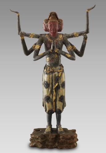 青銅製・漆仕上げ『阿修羅像』喜多敏勝【通販・販売】【仏像】