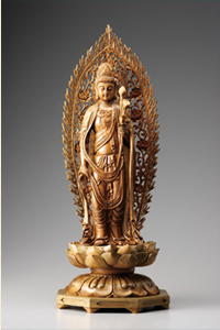 緑檀『聖観音』(大)高さ70cm【大型彫刻】【通販・販売】