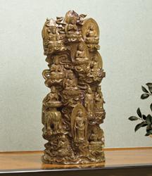 緑檀『十三仏』李建敏【仏尊・仏像・木彫・法要】【通販・販売】