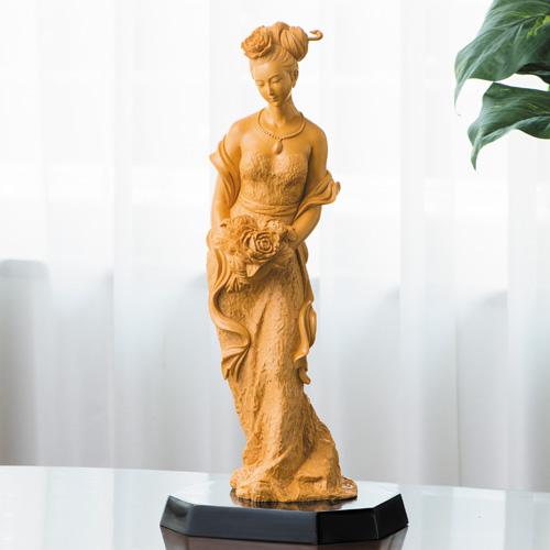 葉小鵬 檜一木彫り『楊貴妃』【仏像・女性像】【通販・販売】