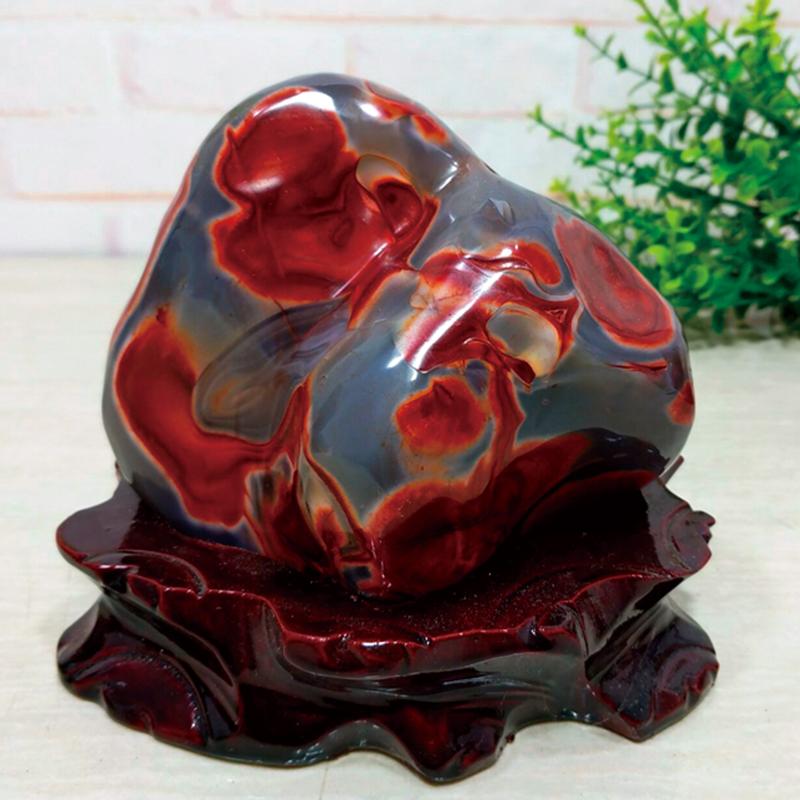 オーストラリア産『赤魂瑪瑙』宝石 瑪瑙 天然宝石 赤瑪瑙 真紅 重さ2.5cm以上 特製専用台座つき 限定【通販・販売】