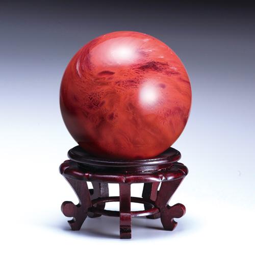 吉祥大珠『赤水晶』直径15cm【赤玉・赤珠・大珠・水晶】【通販・販売】