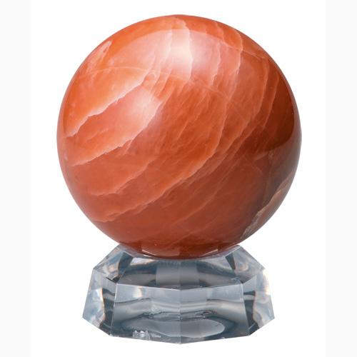 『ブラッドオレンジクォーツ丸珠』【天然石・パワーストーン】【通販・販売】
