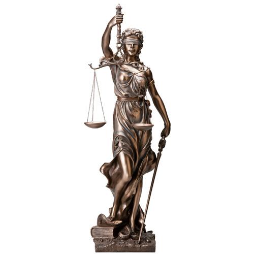ブロンズ調『正義の女神』【ブロンズ・人形・天秤・裁判】【通販・販売】