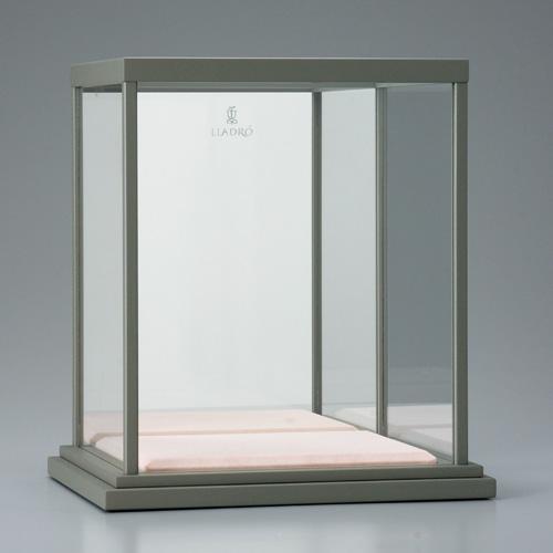 『蓮の上のガネーシャ』ガラスケース(外寸21・17・H24・ミラー)【通販・販売】