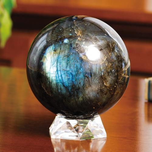 『ラブラドライト丸珠』(中)【天然石・化石・食器】【通販・販売】