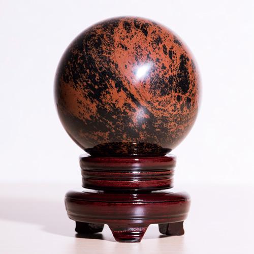 『レッドオブシディアン丸珠』【天然石・パワーストーン】【通販・販売】