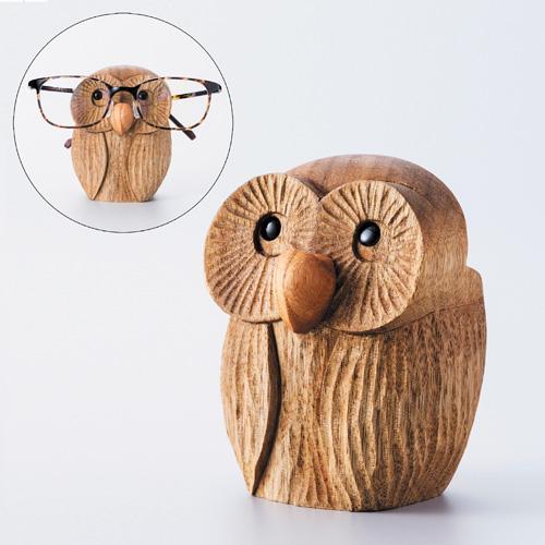 伊川昌宏 楠『森の賢者の梟の眼鏡置き』【メガネ・眼鏡・めがね・眼鏡置き・ふくろう・かわいい】【通販・販売】