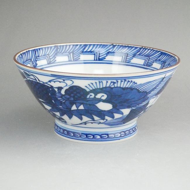 京焼  清水焼 平八龍ご飯茶碗 小