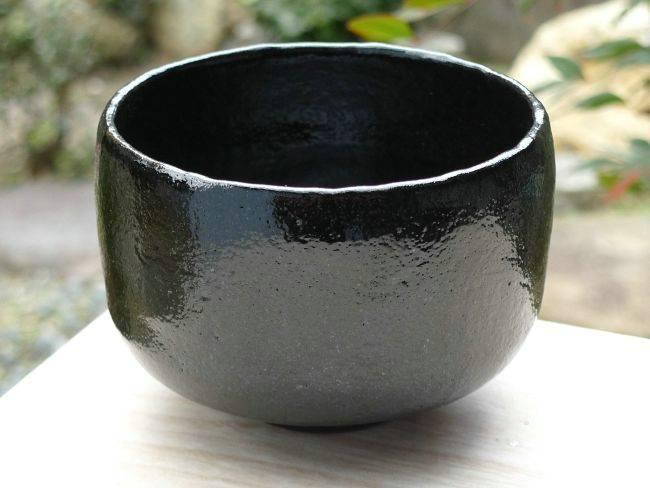 京焼  清水焼 黒茶碗 銘 大黒 昭楽