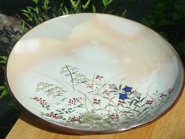 京焼  清水焼 京の秋大皿一尺