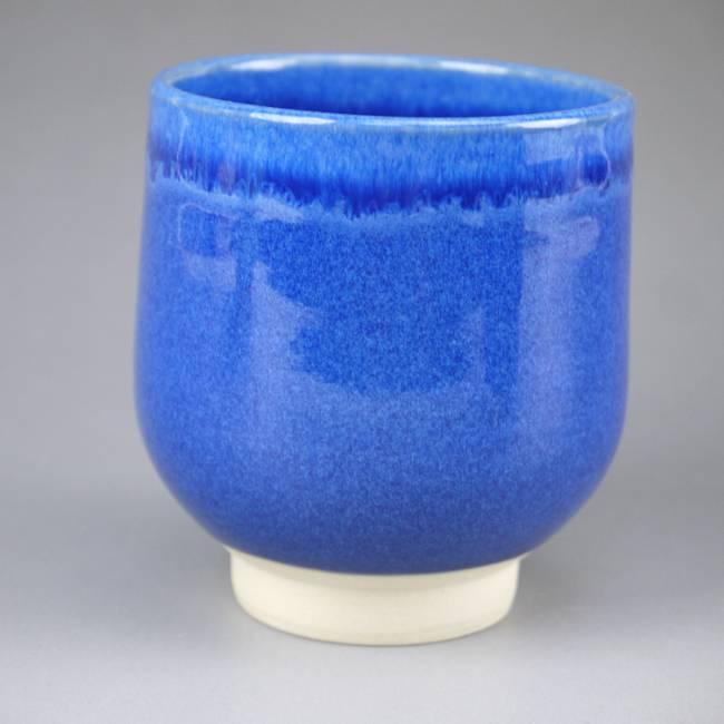 清水正孝陶蓝釉杯大
