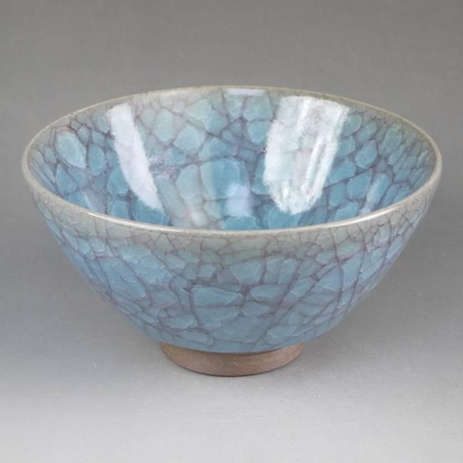 京焼  清水焼 青瓷抹茶碗 利宗