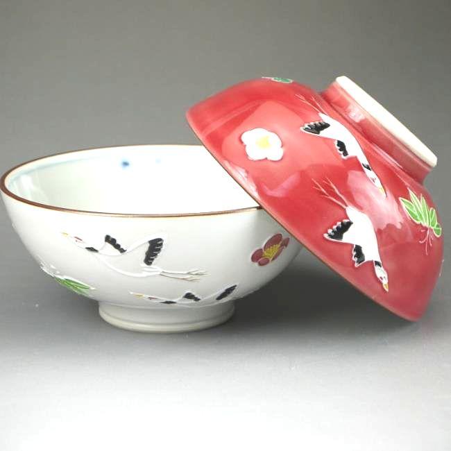 京焼  清水焼 飛翔夫婦茶碗 昇峰