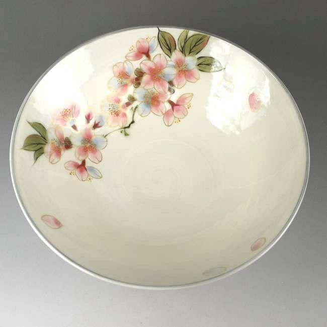 京焼  清水焼 桜八寸鉢 陶あん